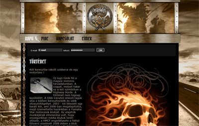Belső oldal egyedi design - weboldal készítés példa